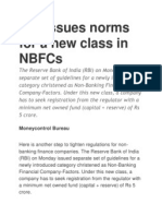 RBI Norms for NBFCs