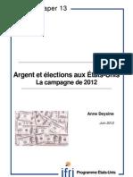 Argent et élections aux Etats-Unis la campagne de 2012
