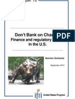 Don't Bank on Change Finance and Regulatory Reform in the U.S.