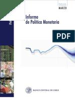 Informe de Polìtica Monetaria - Banco Central de Chile - Marzo 2010