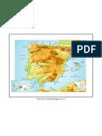 Mapa físic D'Espanya