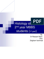 histology slides for 2nd year MBBS  part1