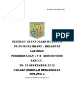 Laporan Perkhemahan Sekolah Kebangsaan Mulong 2, Tahun 2012