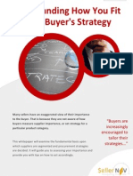 Understanding the Buyer's Strategy