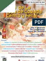 Cartel Ruta Tapa de Coslada Centro y Ferial