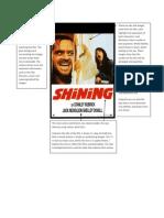 The Shining Poster Analysis