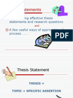 Thesis Questions Pp t