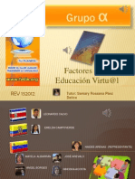 Factores de La Educacion Virtual REV132012