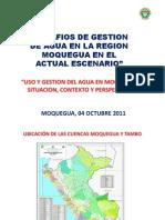 Uso y Gestion Del Agua en Moquegua, Situacion, Contexto y Perspectivas