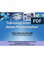 Teknologi Informasi dalam Pemerintahan (e-government)