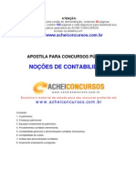 Apostila de Noções Básicas de Contabilidade para Concursos