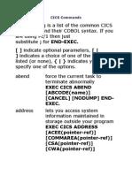 CICS Commands