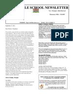 Newsletter  - Sept 27, 2012