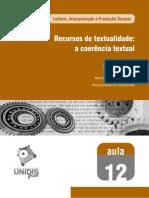 Aula 12 - Recursos de textualidade - a coerência textual