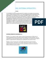 Tipos Del Sistema Operativo