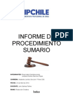 Informe de Procedimiento Sumario