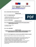 EU-TURKEY GLOBAL BUSINESS BRIDGES INITIATIVE Conference Agenda