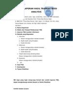 Format Laporan Hasil Training Need Analysis
