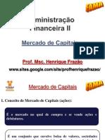 2 - ADM. FIN. II - 3. Mercado de Capitais.2012.2