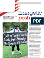 """Energetic Posturing"" - tce today magazine - front-page story Oct. 2012"