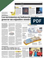 Los terremotos en Indonesia pueden generar un enjambre sísmico mundial