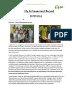 GVI Amazon Monthly Achievement Report - June 2012