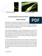 GVI Amazon Monthly Achievement Report - July 2012