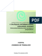 2° Chamada de Trabalhos - Diálogos Juvenis