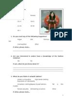 Fashion Questionnaire