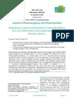 Phytochemical Analyses and Evaluation of Antioxidant Efficacy of in vitro Callus Extract of East Indian Sandalwood Tree (Santalum album L.)
