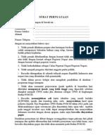 Surat Pernyataan Diah Bpom