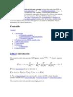 En matemáticas una ecuación en derivadas parciales