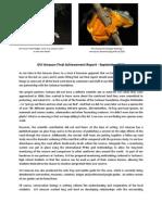 GVI Amazon Final Achievement Report - Sept 2012