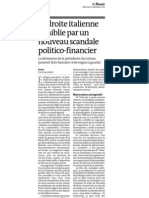 20120926 LeMonde Escandalo Corrupcion Italia