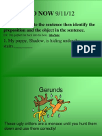 Hunting for Gerunds!