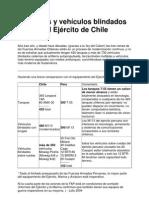 Tanques y vehículos blindados del Ejército de Chile