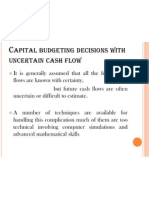 Capital Budgeting Decisions With Uncertain Cash Flow