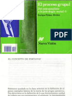 Concepto de Portavoz por Enrique Pichón Riviére