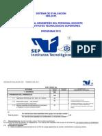 Sistema de Evaluacion SDE-2012