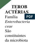 ENTEROBACTÉRIAS