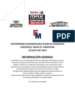 Información General Gran Final Rotax 2012