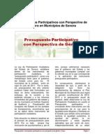 Presupuesto participativo con perspectiva de género en Municipios