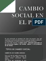 CAMBIO SOCIAL EN EL PERÚ