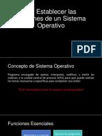 1.1 Sistema Operativo - Diferenciar