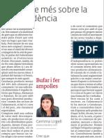 Un article més sobre la independència, publicat a El 3 de vuit