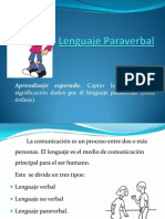 Lenguaje Paraverbal