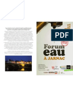 Programme Forum Eau Jarnac 2012