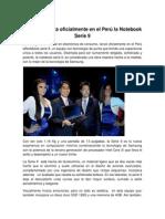 Samsung lanza oficialmente en el Perú la Notebook Serie 9