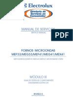 MEF33 MEG33 MEF41 MEG41 MEX41 Microondas Eletrolux