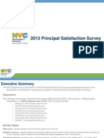 2012 Principal Satisfaction Survey